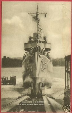 Primary image for Bath Me Postcard Iron Works US Destroyer Ship 430 BJs