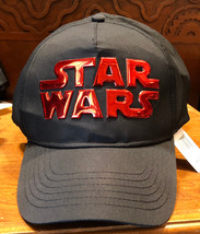 Disney Parks Exclusive Star Wars Black/ Red Adjustable Hat Cap New - $38.78
