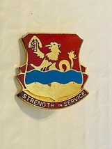 US Military 724th Support Battalion Insignia Pin - Strength in Service - $10.00