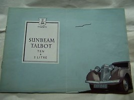 1948 SUNBEAM  SALES BROCHURE OWNERS PARTS - $59.99