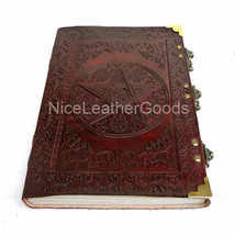 Leather Journal Leather Diary Leather Notebook Brass C Lock Celtic Star ... - $17.99