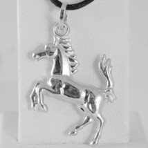Yellow Gold Pendant Or White 750 18K, Horse Convex, Pony image 2
