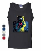 Neon Astronaut Tank Top Moon Landing Space Travel Universe Earth Sleeveless - $9.49+