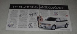 1991 Dodge Caravan Ad - How to improve an American classic - $14.99