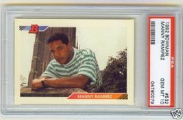1992 Bowman Manny Ramirez Rookie Psa 10 Gem Mint - $44.99