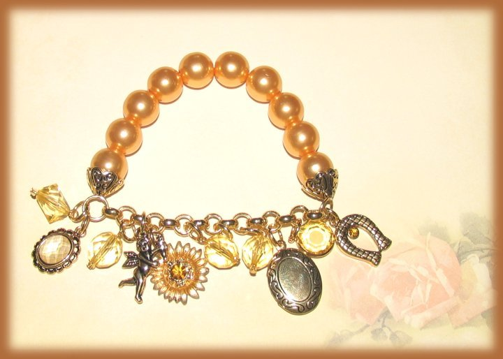 Brac bronze pearl euro charms
