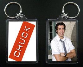 CHUCK keychain / keyring ZACHARY LEVI Chuck Bartowski 1 - $7.99