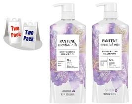 2, Pantene Essential Oils Moisturizing Shampoo Lavender Oil & Basil, 38.... - $29.69