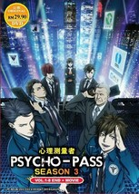 Psycho-Pass Season 3 Vol.1-8 End + Movie English Subtitle Ship From USA