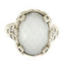 JUDITH RIPKA 925 Sterling Silver White Doublet & Diamonique Ring Size 8 ... - £93.07 GBP