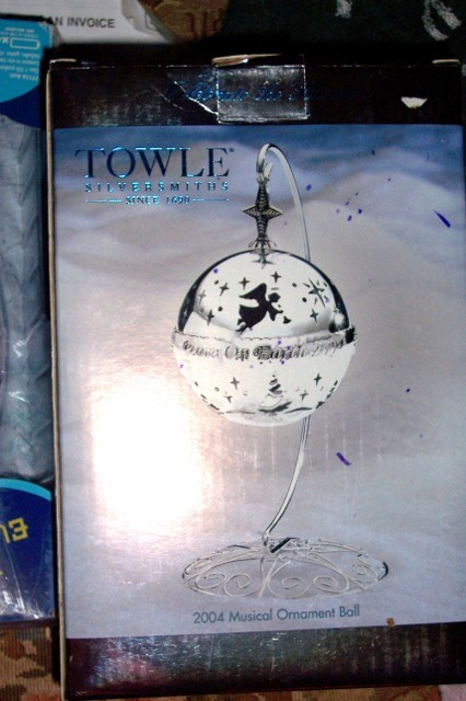 Towle Musical Ornament Ball 2004 Limited Edition Collectible NEW