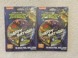 "Rise Of The Teenage Mutant Ninja Turtles Happy Birthday 18"" Foil Balloon Lot 2 - $7.30"