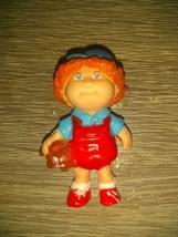 "Vintage 1984 Cabbage Patch Kids Mini Pvc 2"" Boy W. Hat Teddy Bear & Slingshot - $9.87"