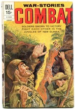 COMBAT #34 WW II NEW GUINEA PHILLIPINES DELL 1972 WAR VG - $25.22