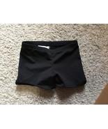 Motionwear Girl's Dance Shorts Size Large Black Elastic Waist - $7.00