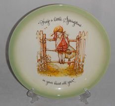 """Holly Hobbie """"Keep A Little Springtime In Your Heart All Year"""" Ceramic Plate - $10.00"""
