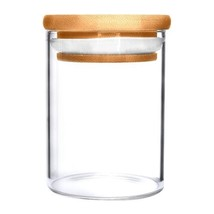 ( 1 ) ONE 18oz Glass Jar w/ Wooden Suction Lid  - $8.90