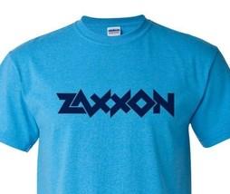 Zaxxon T-shirt retro 1980's arcade video game vintage Heather Blue graphic tee image 1