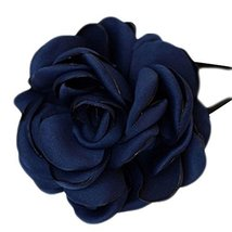 Elegant Flowers Ponytail Holders Hair Rope Hair Accessories(Navy)