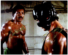 ROCKY - SYLVESTER STALLONE & CARL WEATHERS Signed Autographed Cast Photo w/COA 1 - $160.00