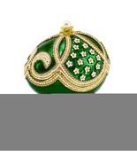 Non Metal Bejeweled Green Grandeur (Plays Endless Love) Musical Egg (Len... - $76.71