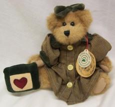 """Boyds Bailey & Friends TEDDY BEAR IN PLAID DRESS 8"""" Plush STUFFED ANIMAL... - $19.80"""