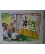 English Children at Punch & Judy Puppet Show - Art Print - David C. Cook... - $10.24