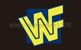 WWF World Wrestling Federation 3'x5' black flag banner 4 - WCW, WWF, WWE 1994 - $25.00
