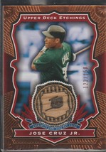 2004 UD Etchings Jose Cruz Jr. Rays 121/150 Game Used Bat Baseball Card ... - $8.00