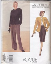 Anne Klein Vogue American Designer 2355 Blazer, Skirt and Pants C. 2001 ... - $7.42