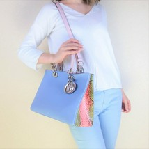 Christian Dior Limited Edition Medium Diorissimo Python Shoulder Bag - $1,699.00