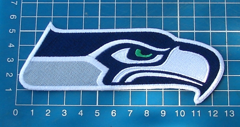 "Primary image for Seattle Seahawks Football NFL Superbowl logo patch 5"" Jersey Embroidered"