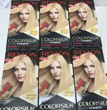 6 Revlon Luxurious Colorsilk Buttercream 93 Light Golden Blonde Hair Dye - $59.99