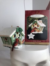 Holiday Serenade Hallmark Keepsake Ornament 1997 Birdhouse Cardinals Art... - $14.80