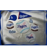 LA Dodgers VTG Iron On Applique Logo Cotton Fabric Set of 8 #1 - $7.00
