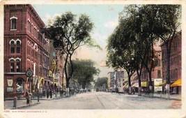 Elm Street Manchester New Hampshire 1910c Phostint postcard - $6.93