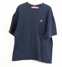 Vintage 90s Champion Mens Medium Classic Logo Short Sleeve T Shirt Navy ... - $24.70