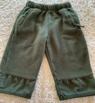 Baby Gap Boys Hunter Green Fleece Pants Zipper Pockets 18-24 Months 2T - $5.95