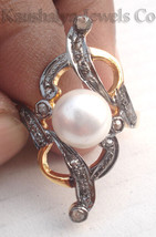 Victorian 0.62ct Rose Cut Diamond Pearl Wedding Glamorous Nice Ring - $294.06