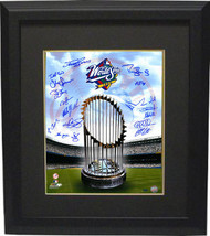 New York Yankees signed 16x20 Photo Custom Framed 1998 WS Champions Logo and Tro - $248.95