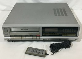 Vintage 1980s Sanyo VCR-4010 Beta VCR Recorder Player W/ Remote Parts Or Repair - $74.24