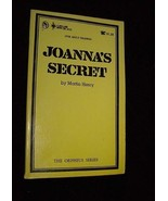 Joanna's Secret By Martin Henry Paperback Book 1969 Orpheus pulp fiction - $20.00