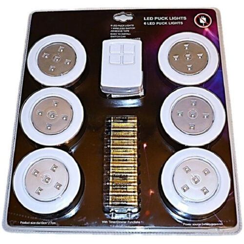 """4"""" Under Cabinet Garage Kitchen Bathroom RV LED Wireless Puck Lighting Lights 6 - $24.95"""
