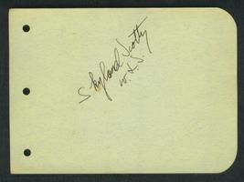 SKYLAND  SCOTTY  VINTAGE  ORIGINAL  AUTOGRAPH  SING/ACT   EX   !! - $89.99