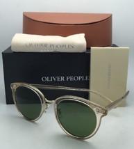 New OLIVER PEOPLES Sunglasses SPELMAN OV 5323S 109452 Buff Frames w/Green Lenses