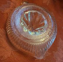 VTG CLEAR GLASS RIBBED ART DECO CITRUS JUICER REAMER SQUEEZER W POUR SPOUT  image 3