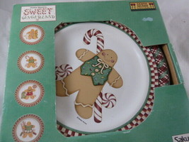 Debbie Mumm Sweet Gingerland Set of 4 Salad / Dessert Plates  Plus 1 ext... - $45.04