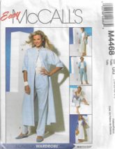 PS Easy McCall's Pattern #M4468-Misses Duster-Shirt-Top-Bias Skirt-Pants... - $6.76