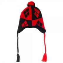 HARLEY QUINN Diamonds Logo Laplander Batman Beanie Knit Hat Cap - ₨698.09 INR