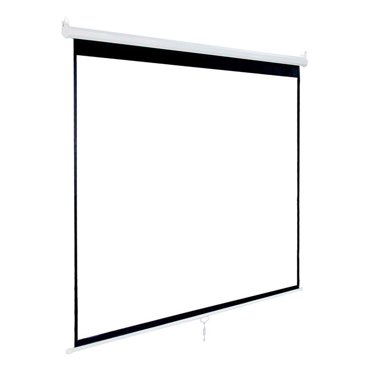 120 Inch HD 1:1 Pull Down  Manual Projection Screen with Auto Lock Home Theater